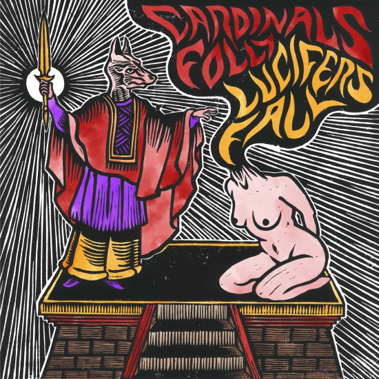 "CARDINALS FOLLY / LUCIFER'S FALL ""Split"" LP"